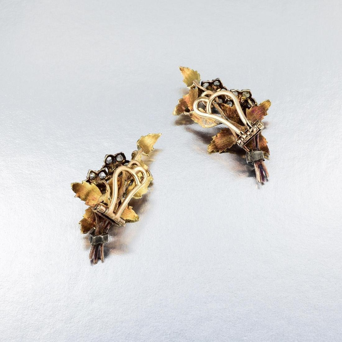 Buccellati Diamond and Pearl Earclips - 2