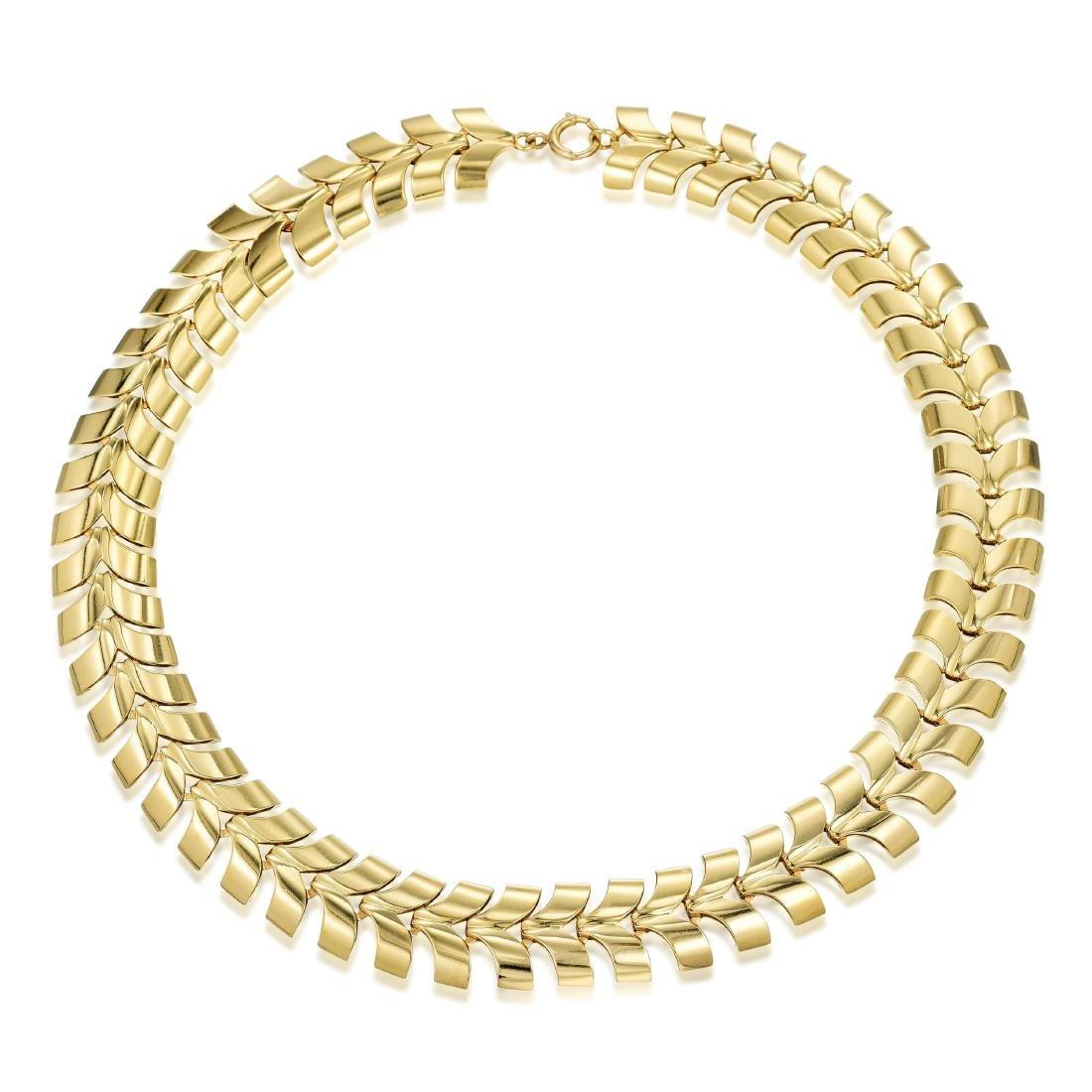 Tiffany & Co. Gold Necklace and Bracelet Set - 3