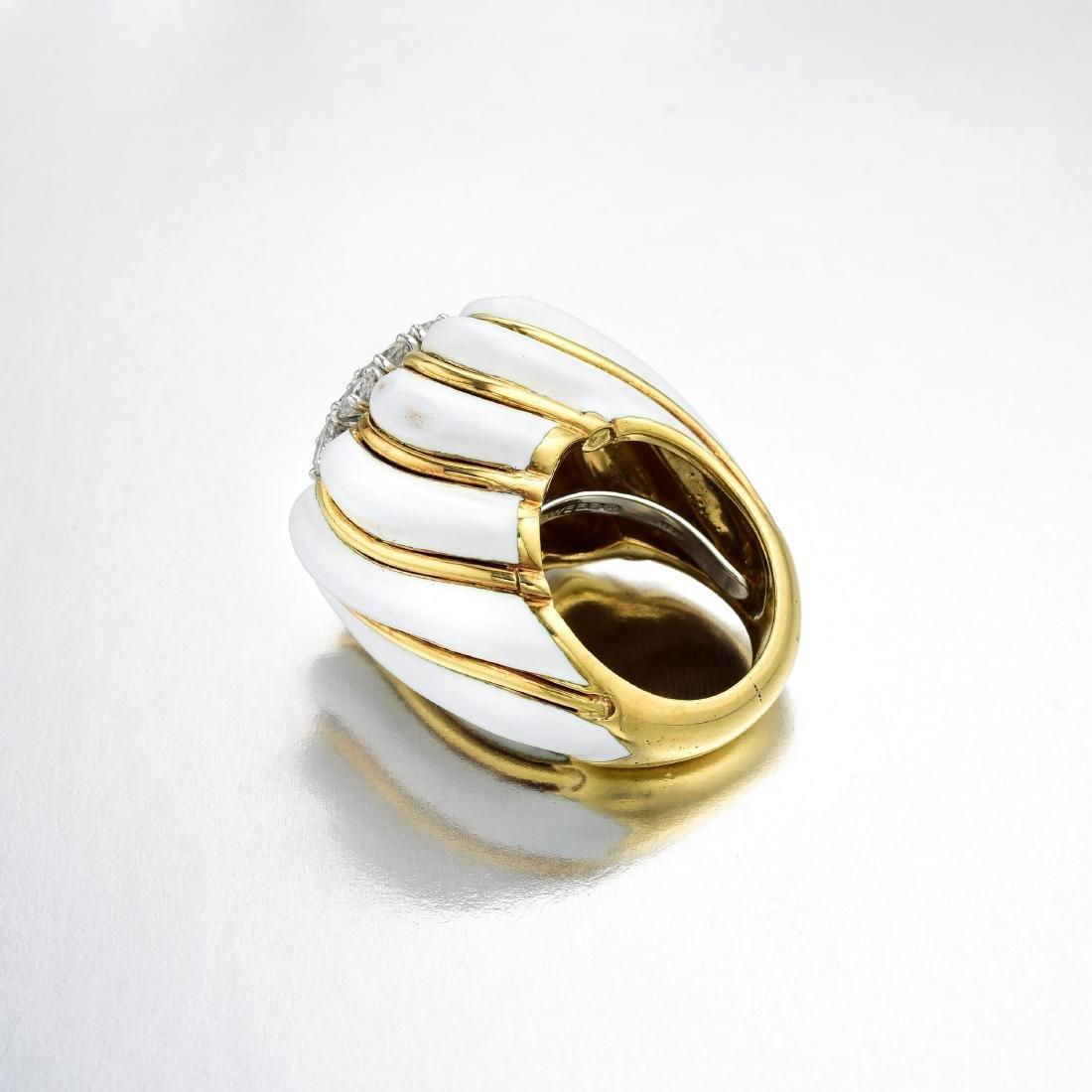 David Webb Diamond and Enamel Ring - 3