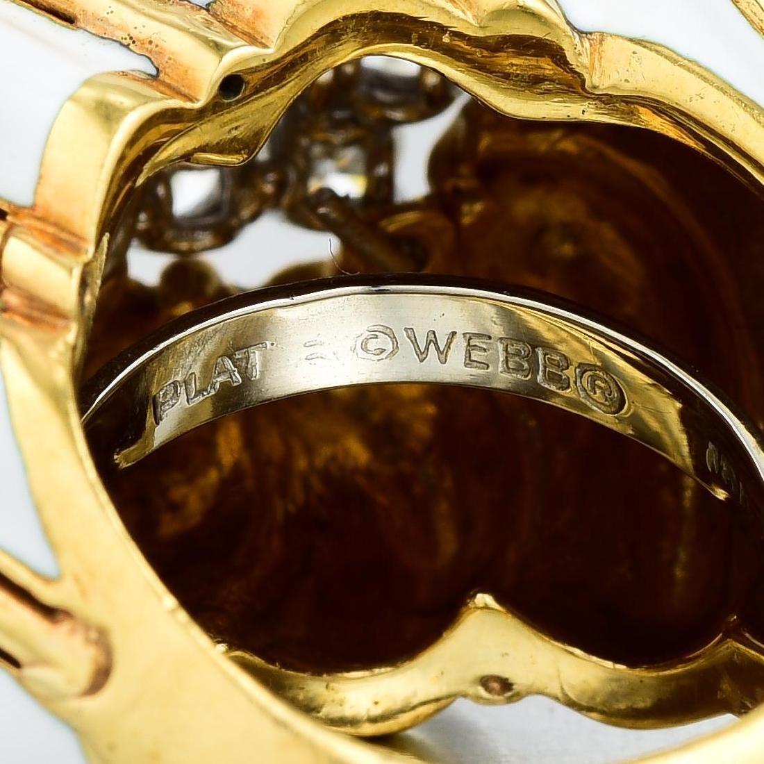 David Webb Diamond and Enamel Ring - 4