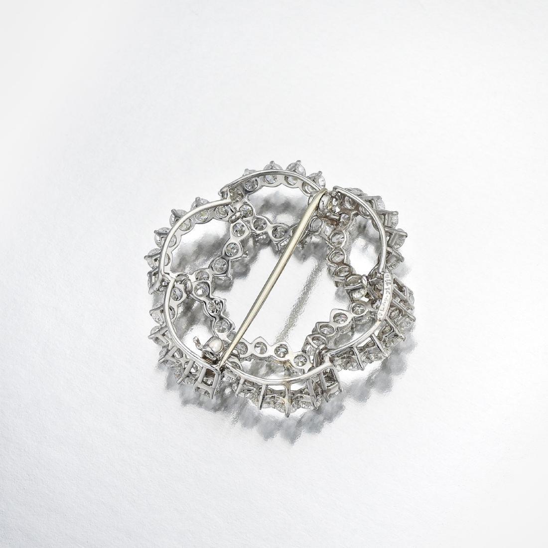 A Platinum Diamond Brooch - 2