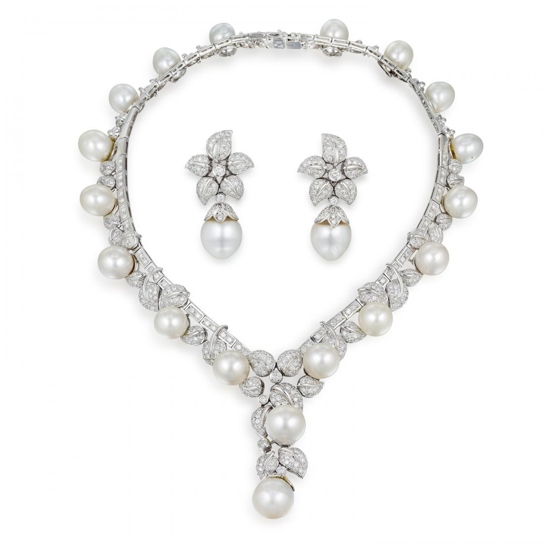 Andreoli South Sea Pearl and Diamond Necklace and