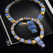 Tony Duquette Chalcedony Necklace