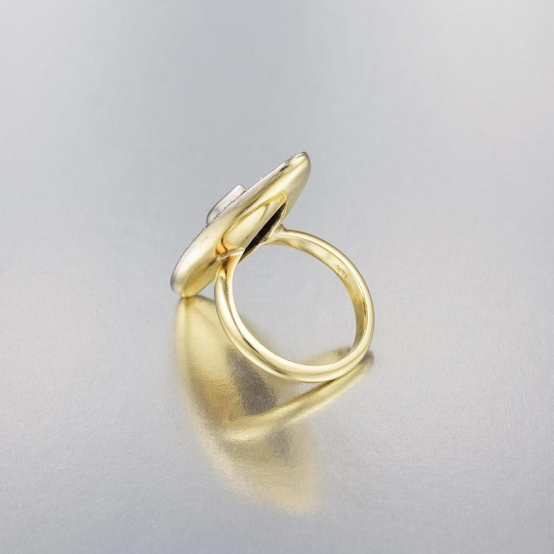 A 14K Gold Sapphire and Diamond Ring - 3