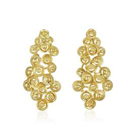 A Pair of 18K Gold Earrings