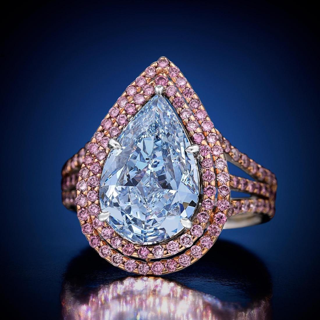 An Important 3.05-Carat Fancy Intense Blue Diamond Ring