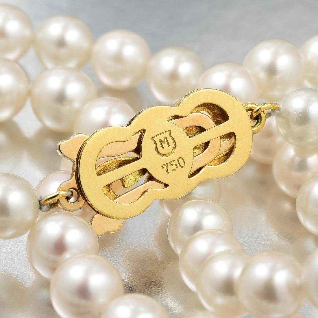 Mikimoto Pearl Necklace - 4