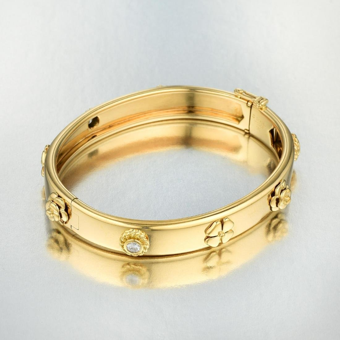 """Chanel """"Three Symbols"""" Diamond Bangle - 2"""