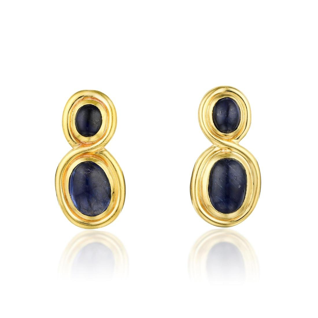 Bulgari Sapphire Earrings