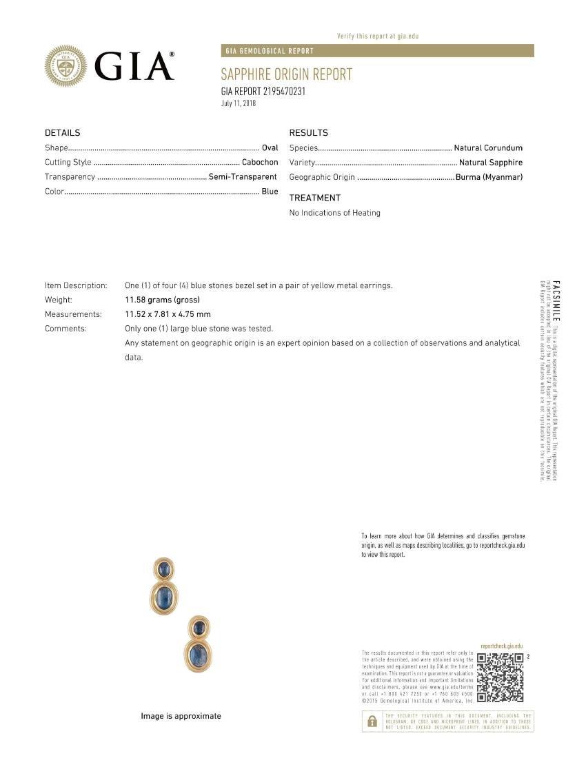 Bulgari Sapphire Earrings - 4
