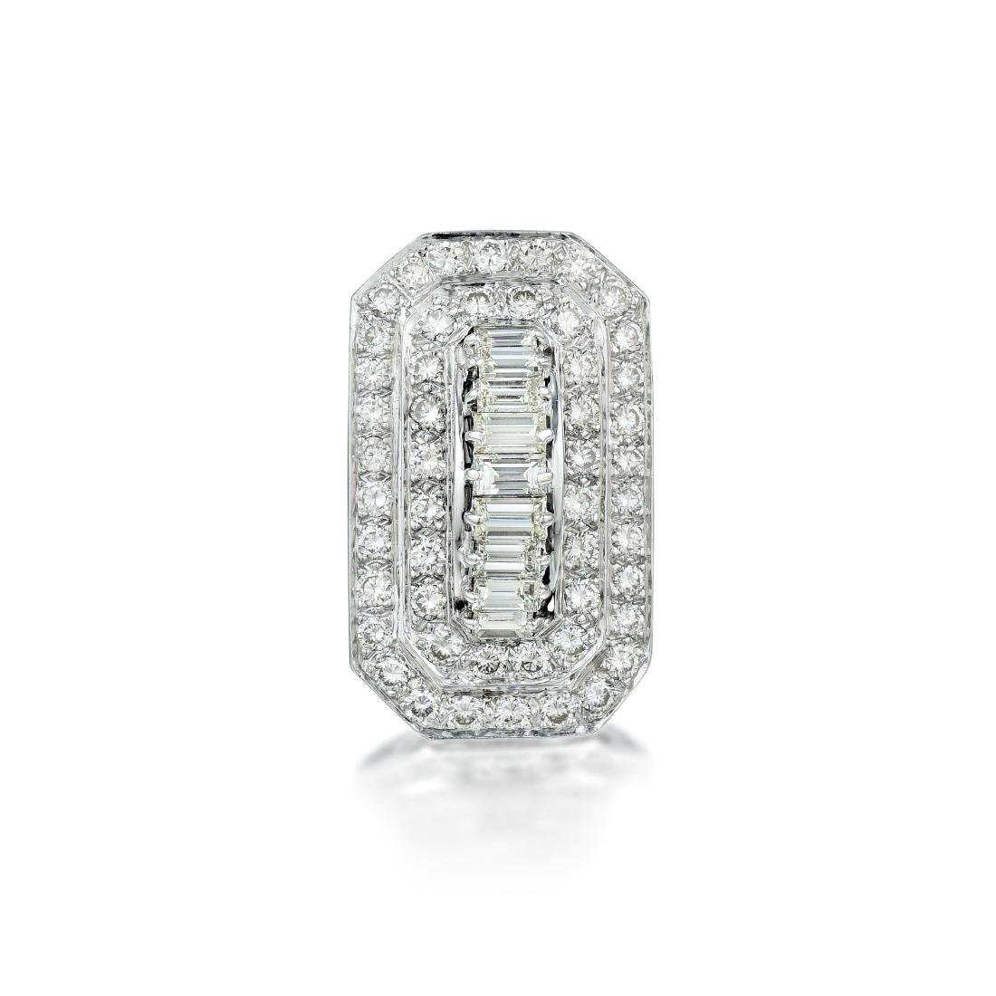 A Platinum Diamond Cocktail Ring