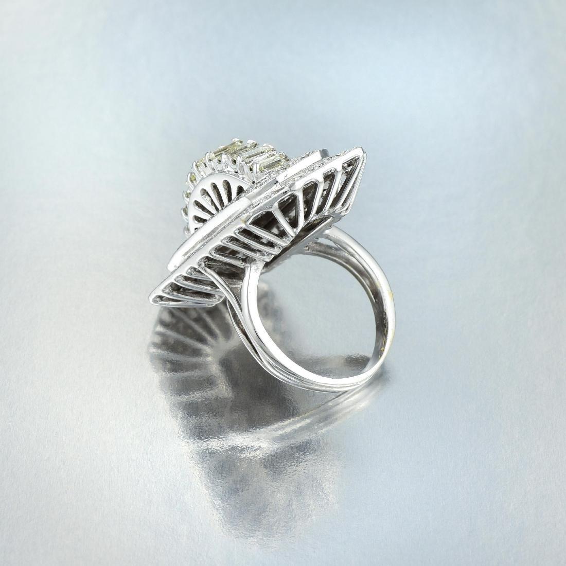 A Platinum Diamond Cocktail Ring - 3