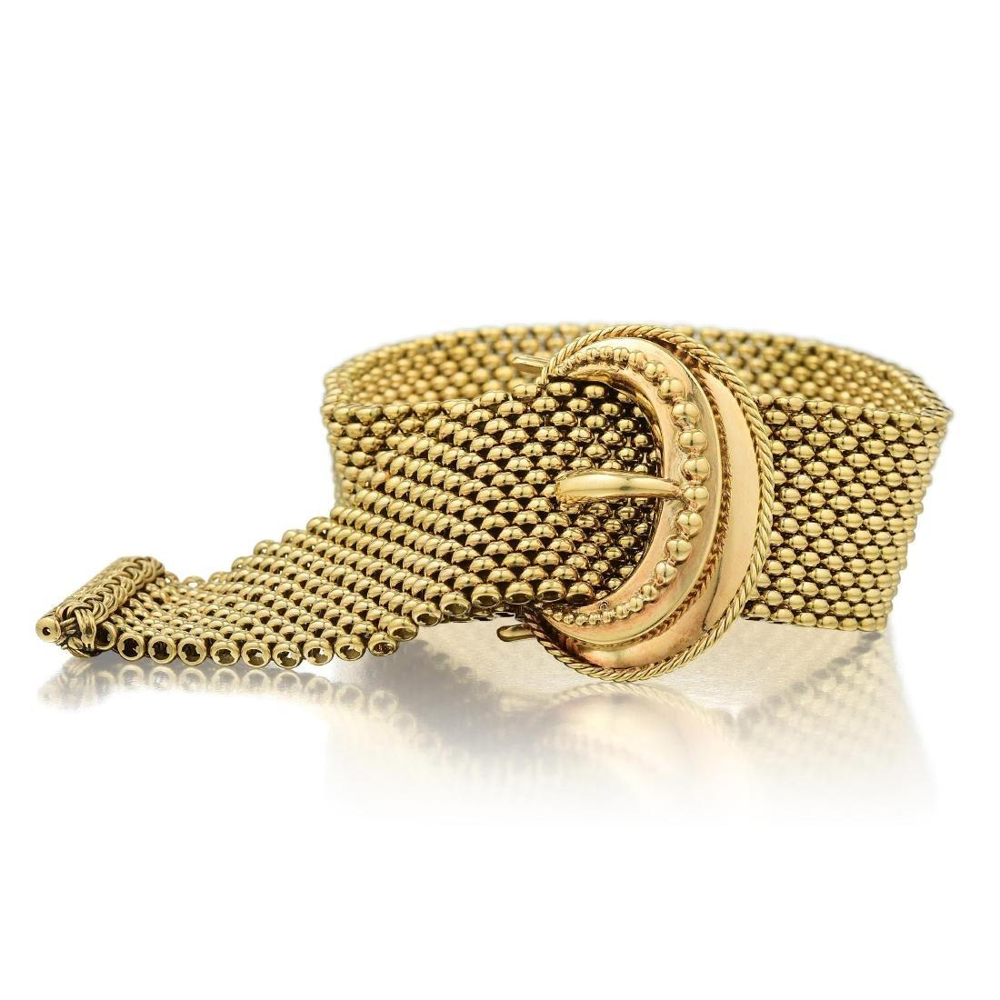 Vintage Gold Buckle Bracelet