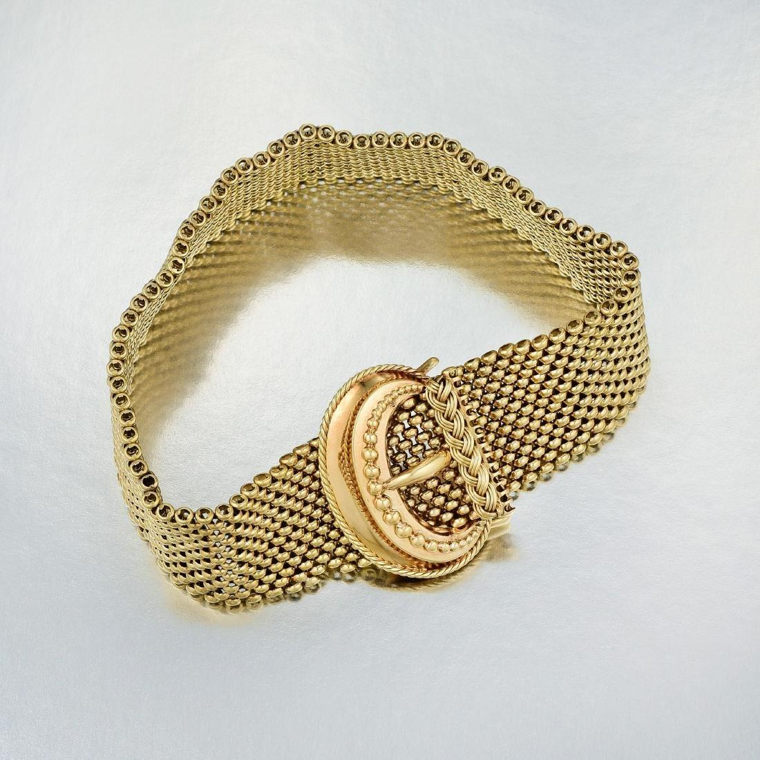 Vintage Gold Buckle Bracelet - 2