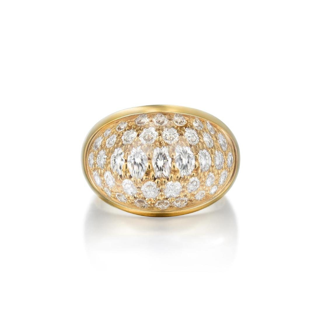 Cartier Rock Crystal and Diamond Earring and Ring Set, - 2