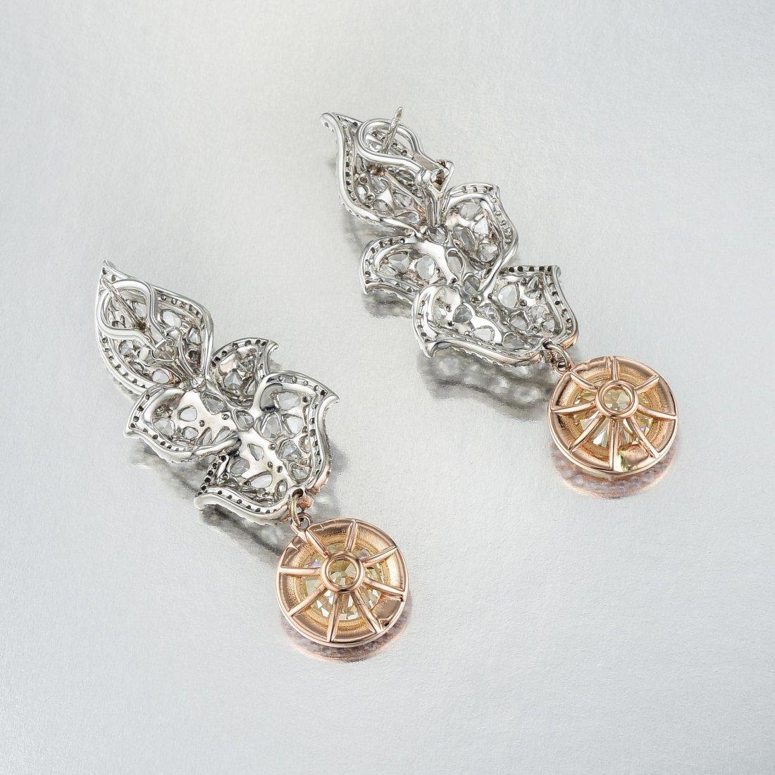 A Pair of Old European-Cut Diamond Earrings - 5