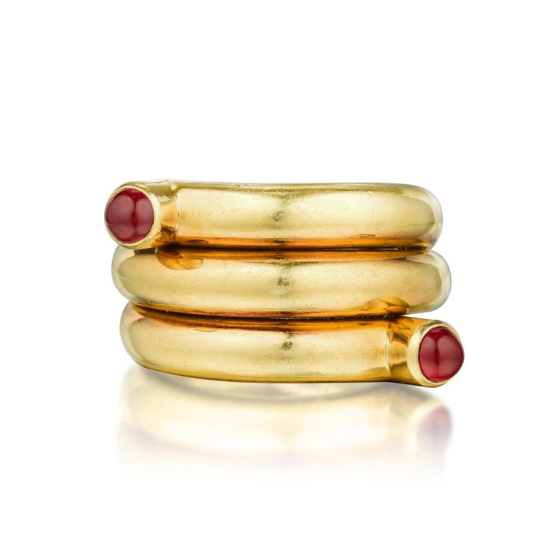 Tiffany & Co. Schlumberger Ruby Double Coil Ring