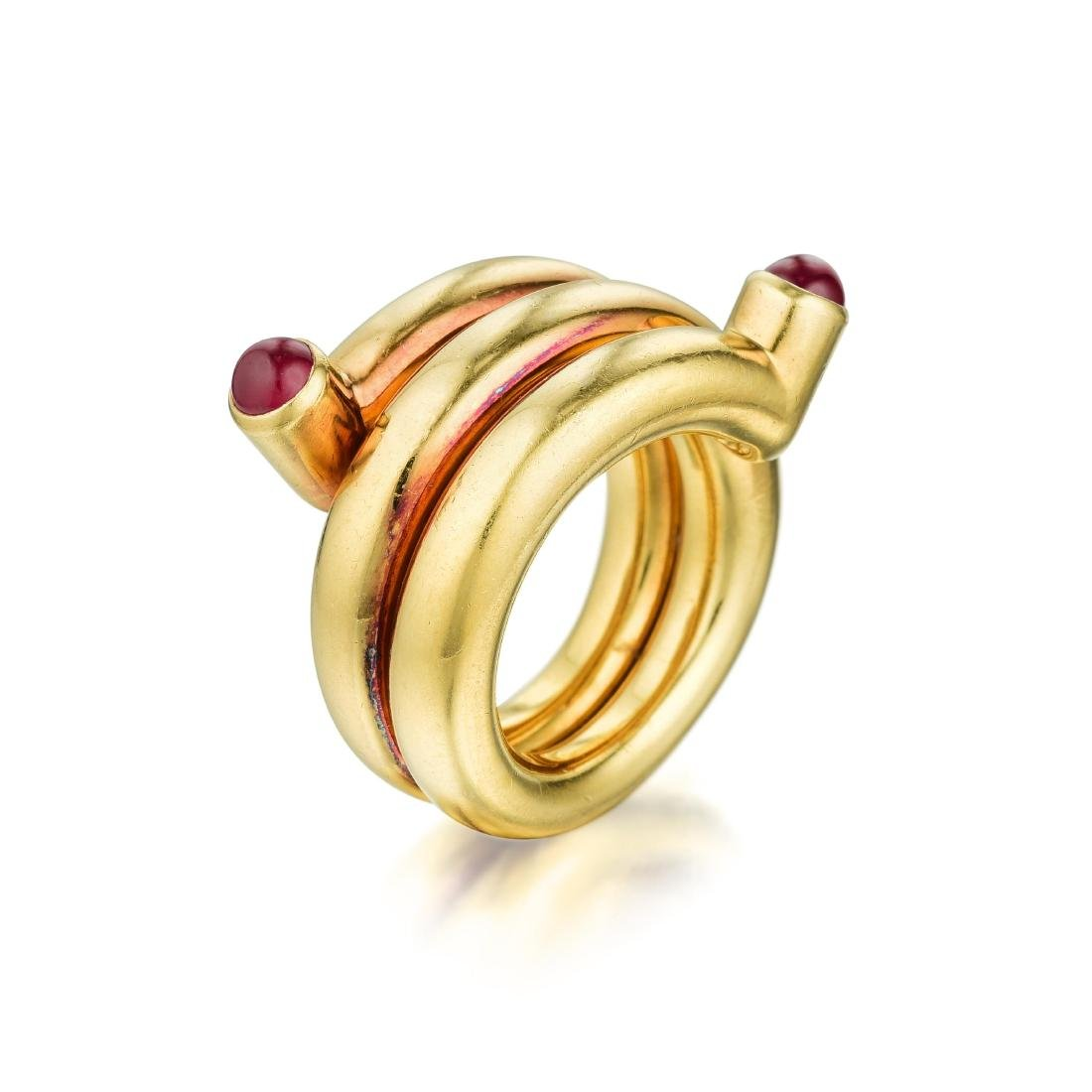 Tiffany & Co. Schlumberger Ruby Double Coil Ring - 2