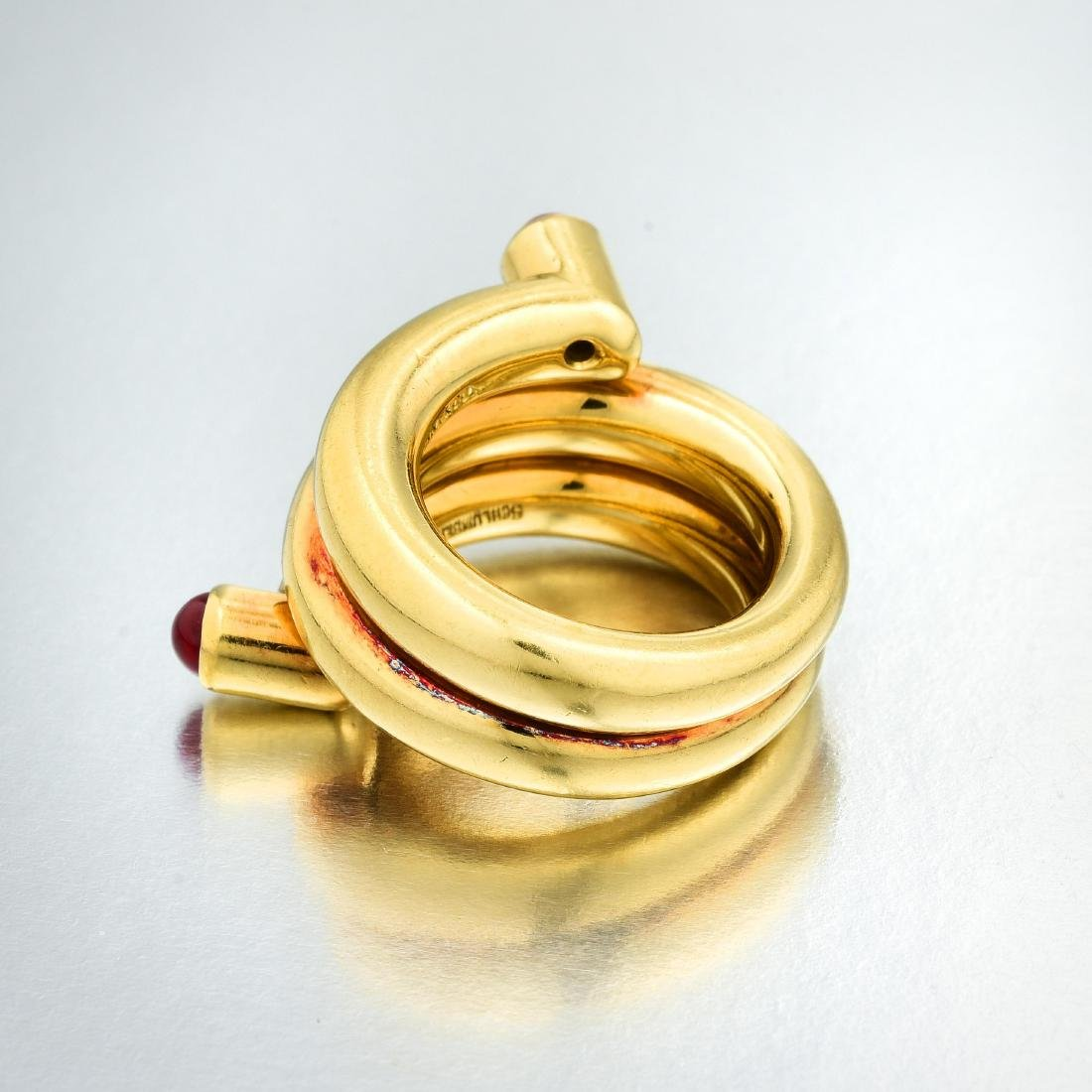 Tiffany & Co. Schlumberger Ruby Double Coil Ring - 3