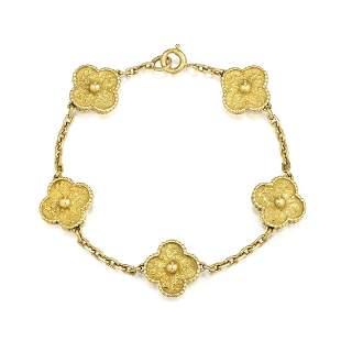 Van Cleef & Arpels Gold Vintage Alhambra Bracelet, 5