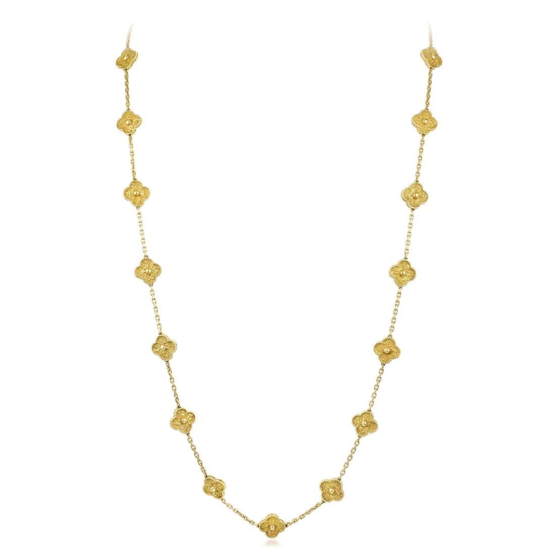 Van Cleef & Arpels Gold Vintage Alhambra Long Necklace,