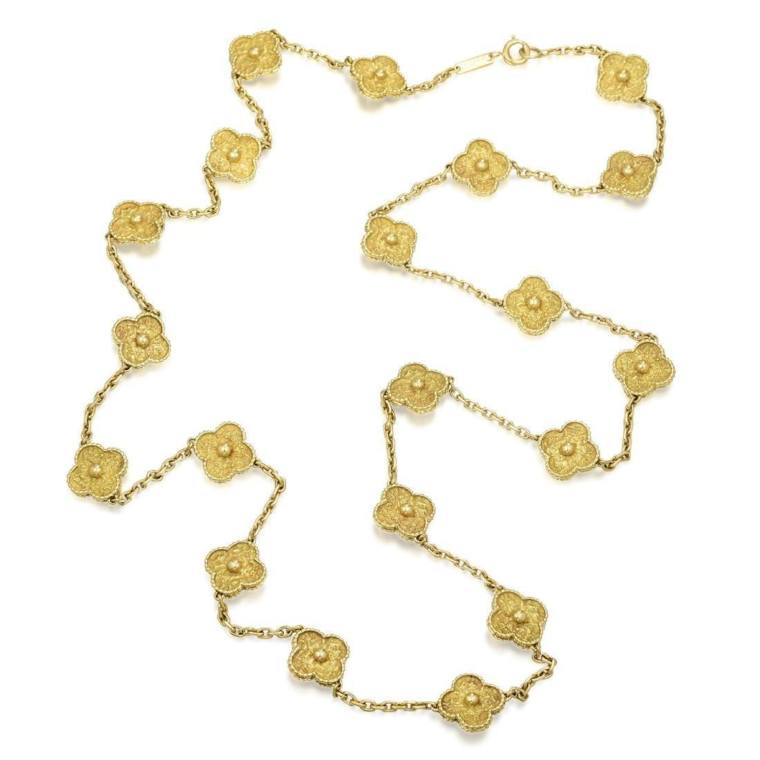 Van Cleef & Arpels Gold Vintage Alhambra Long Necklace, - 2