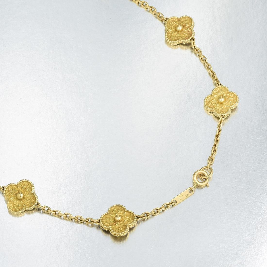 Van Cleef & Arpels Gold Vintage Alhambra Long Necklace, - 3