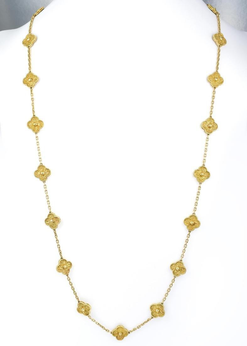 Van Cleef & Arpels Gold Vintage Alhambra Long Necklace, - 4