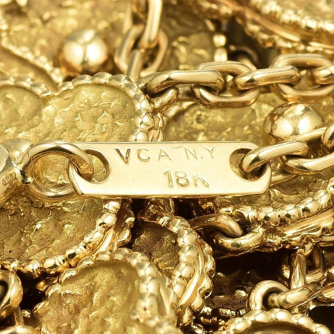 Van Cleef & Arpels Gold Vintage Alhambra Long Necklace, - 5