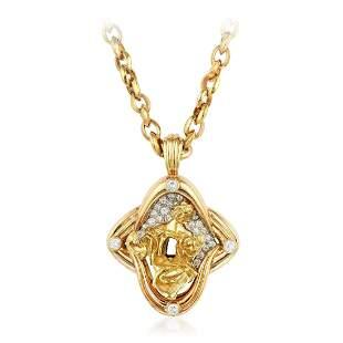 Dali Madonna of Port Lligat Diamond Pendant Necklace