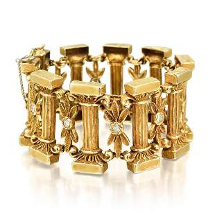 Erwin Pearl Gold and Diamond Ionic Order Bracelet