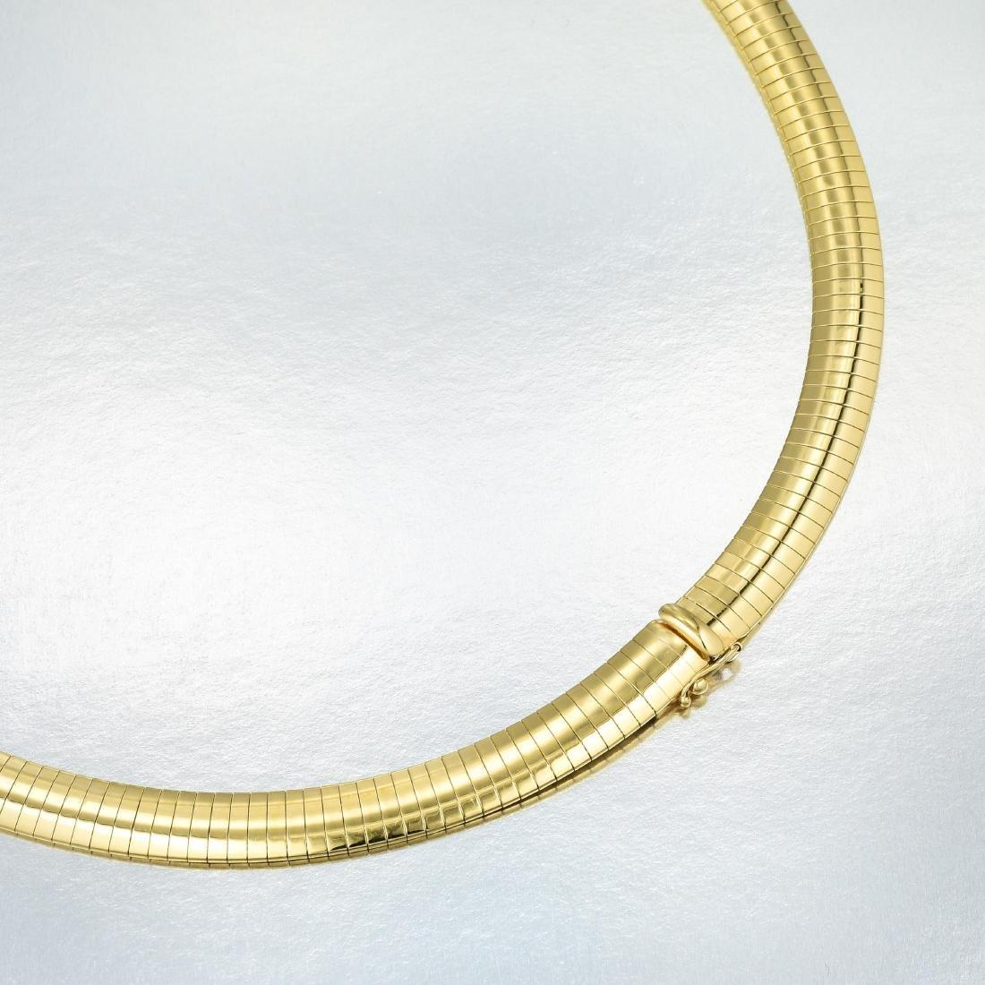 A Large Pear-Shaped Tanzanite and Diamond Pendant - 4