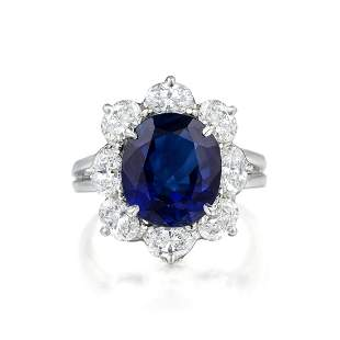 Oscar Heyman Sapphire and Diamond Ring