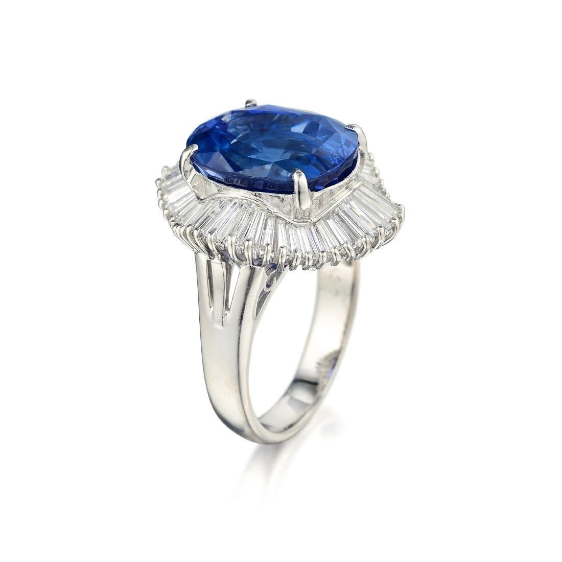 A 10.24-Carat Sapphire and Diamond Ballerina Ring - 2