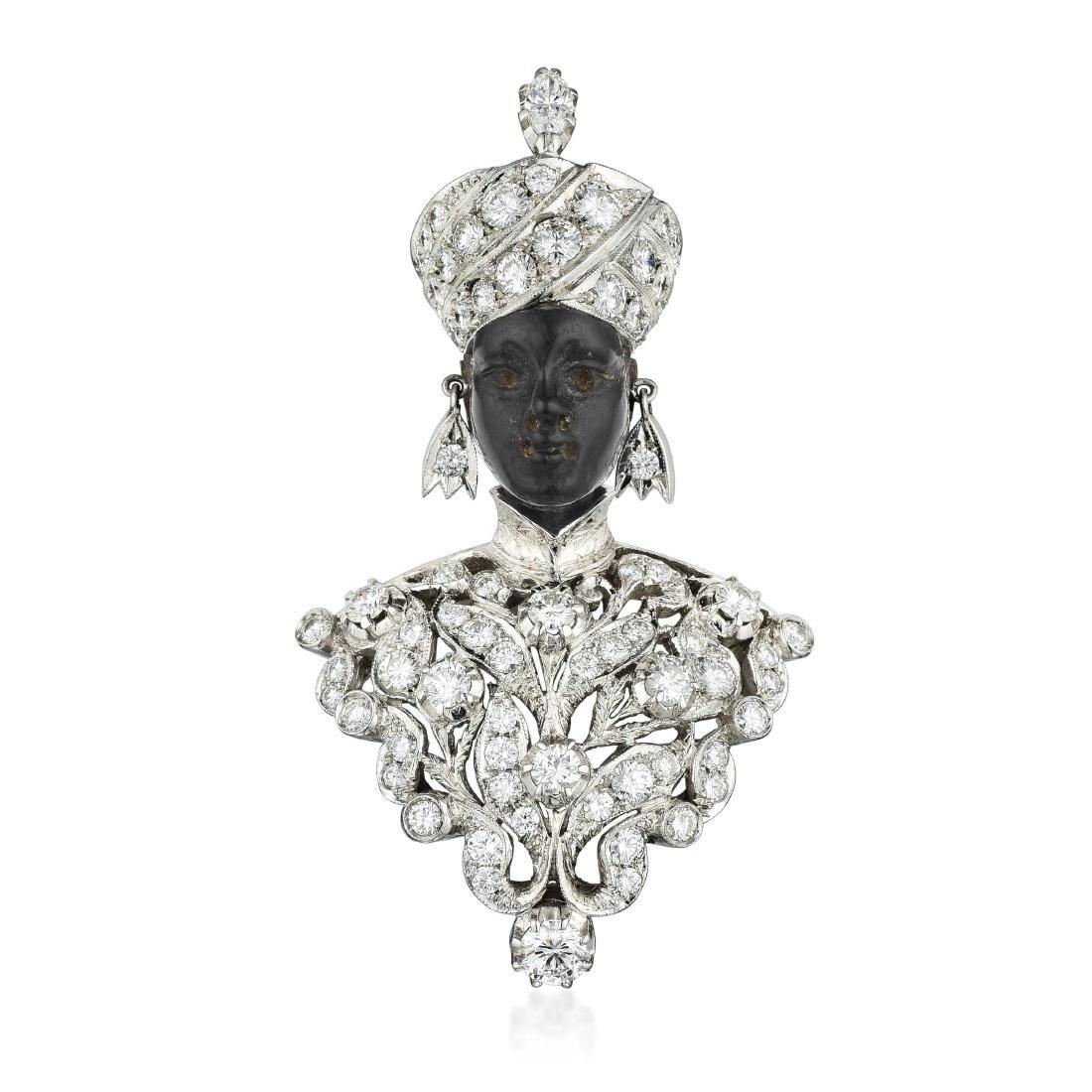 "Nardi ""Tree of Life"" Diamond Blackamoor Brooch/Necklace"