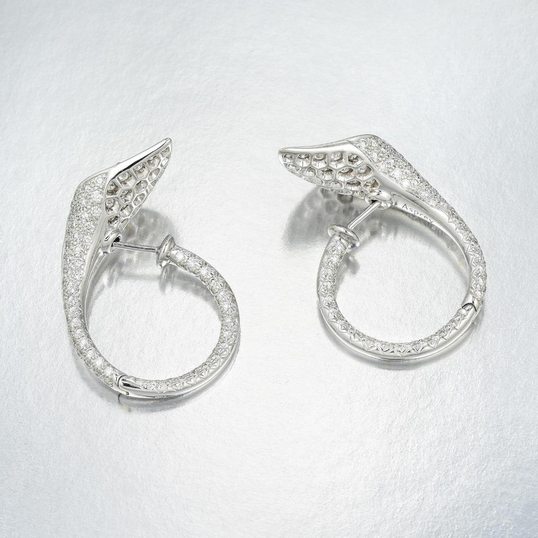 Asprey Diamond and Pink Sapphire Calla Lily Earrings - 2