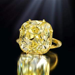 A Magnificent 23.26-Carat Fancy Intense Yellow Old