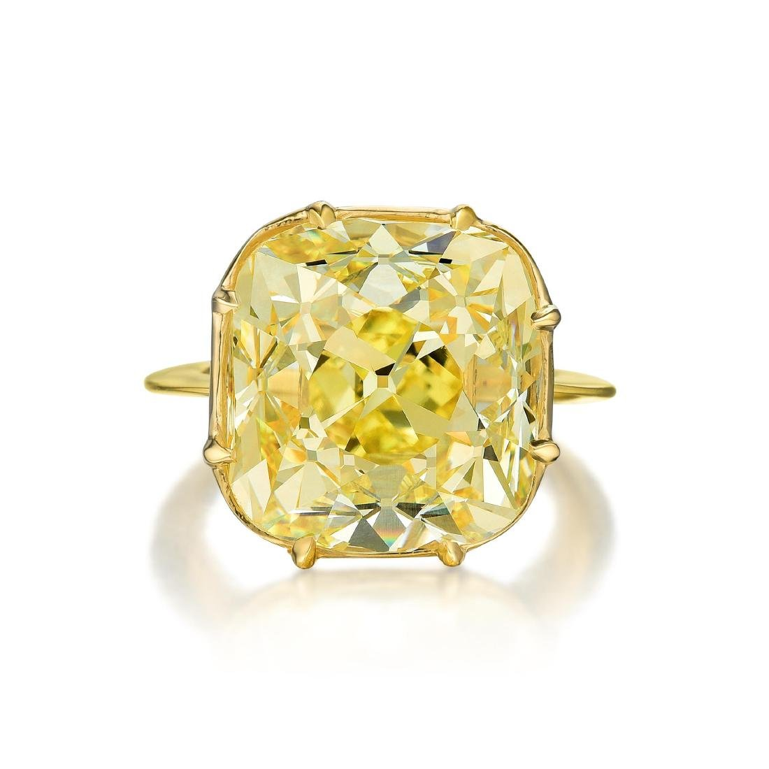 A Magnificent 23.26-Carat Fancy Intense Yellow Old - 2
