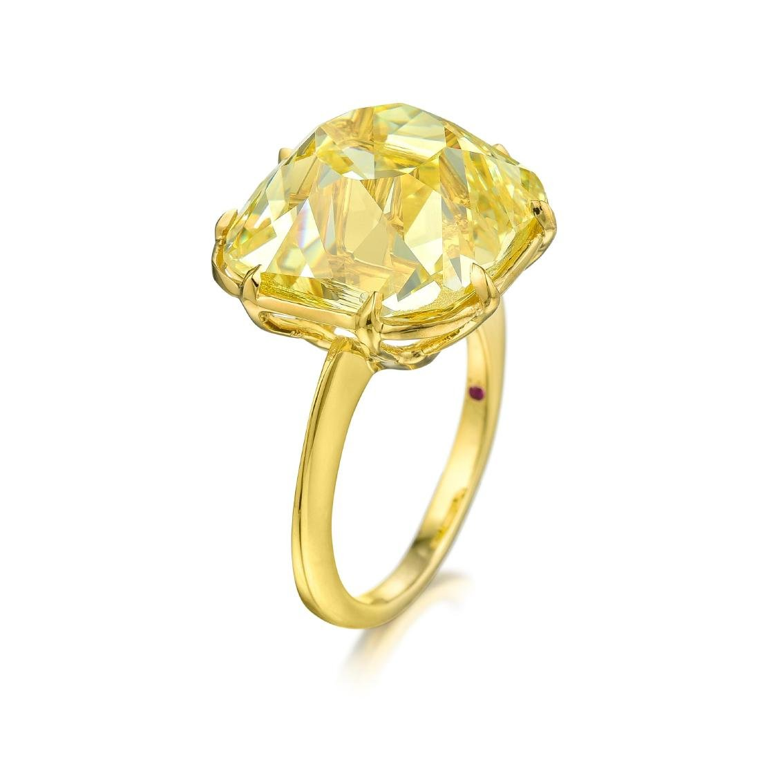A Magnificent 23.26-Carat Fancy Intense Yellow Old - 3