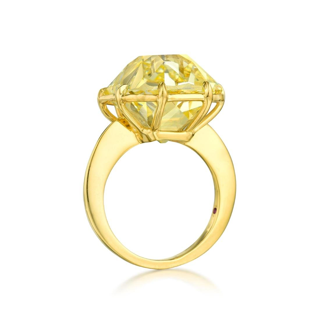 A Magnificent 23.26-Carat Fancy Intense Yellow Old - 4