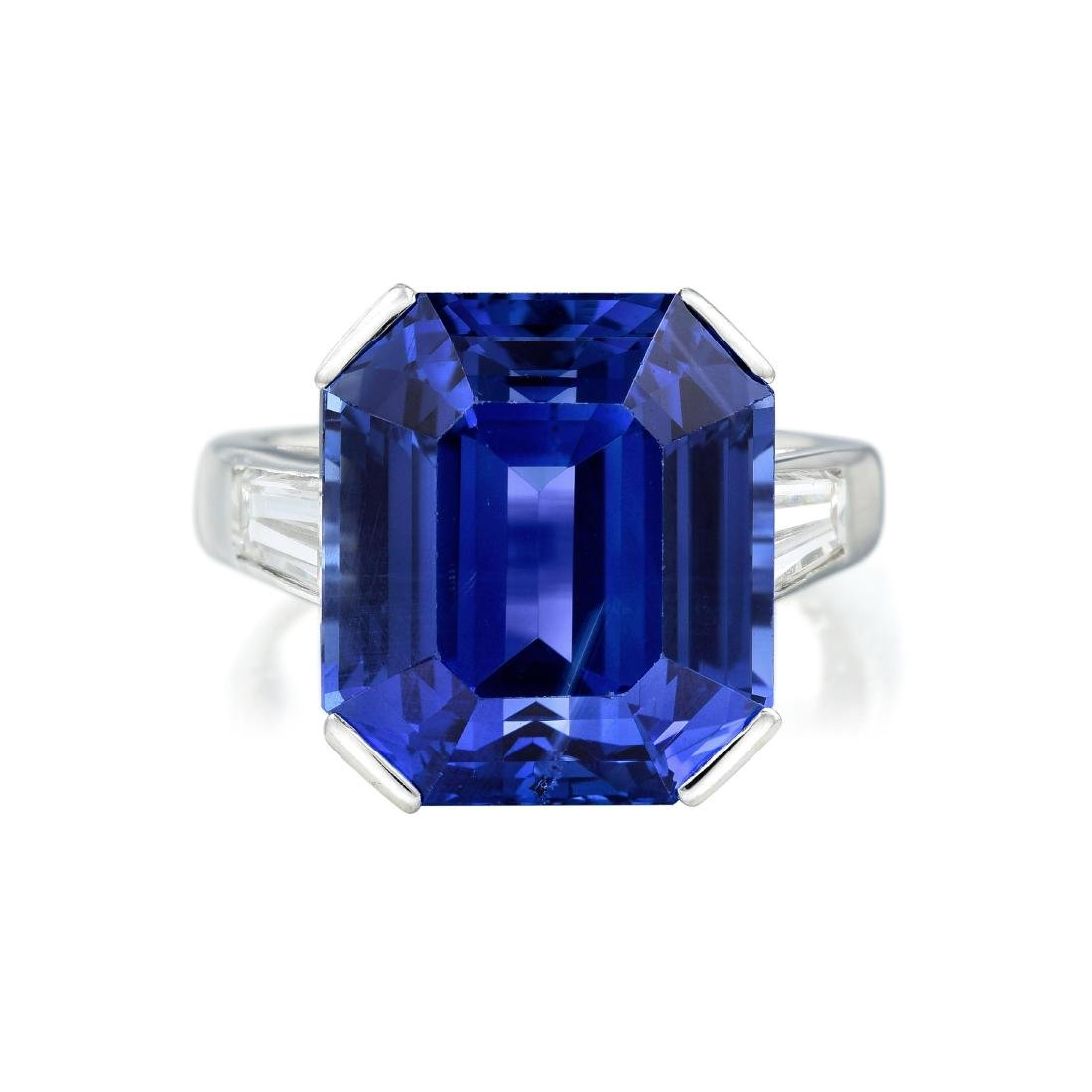 Art Deco 21.61-Carat Unheated Ceylon Sapphire and - 2