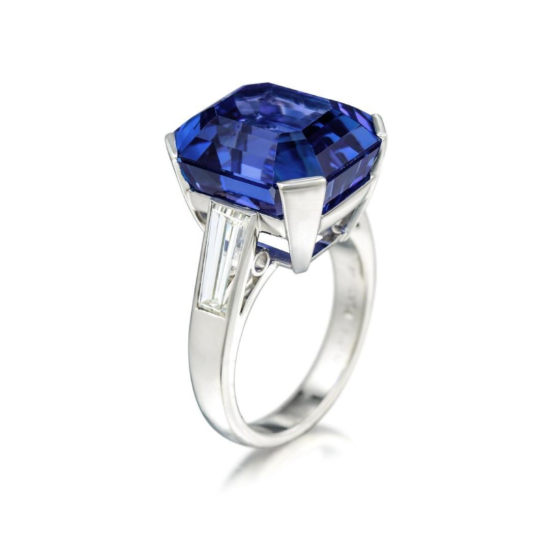 Art Deco 21.61-Carat Unheated Ceylon Sapphire and - 3