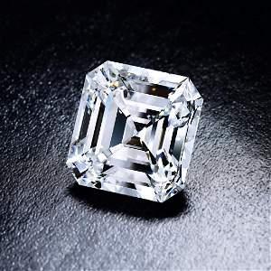 A 10.67-Carat D IF Asscher-Cut Diamond Ring