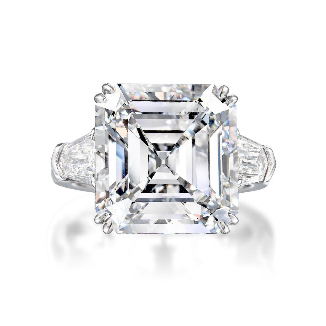 A 10.67-Carat D IF Asscher-Cut Diamond Ring - 2