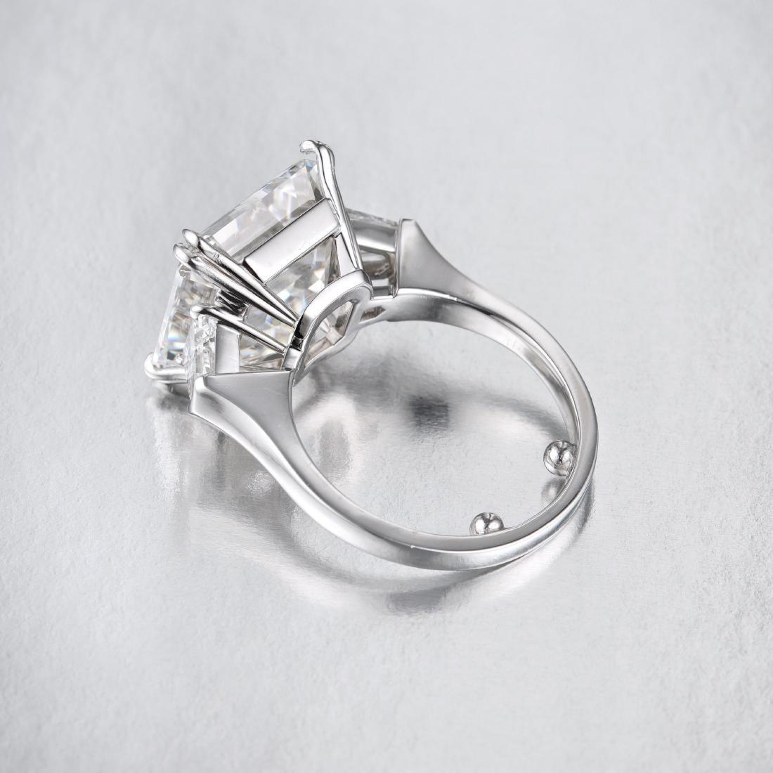 A 10.67-Carat D IF Asscher-Cut Diamond Ring - 4