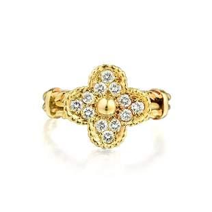Van Cleef & Arpels Vintage Alhambra Diamond Ring