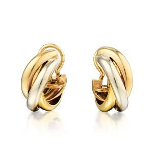 Cartier Trinity Hoop Earclips