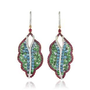 Hanut Singh Multi-Colored Gemstone Glitterbomb Leaf