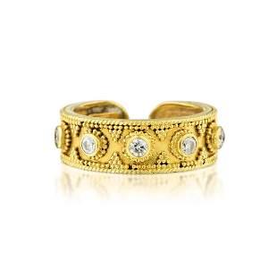 Lalaounis Diamond Open Band Ring