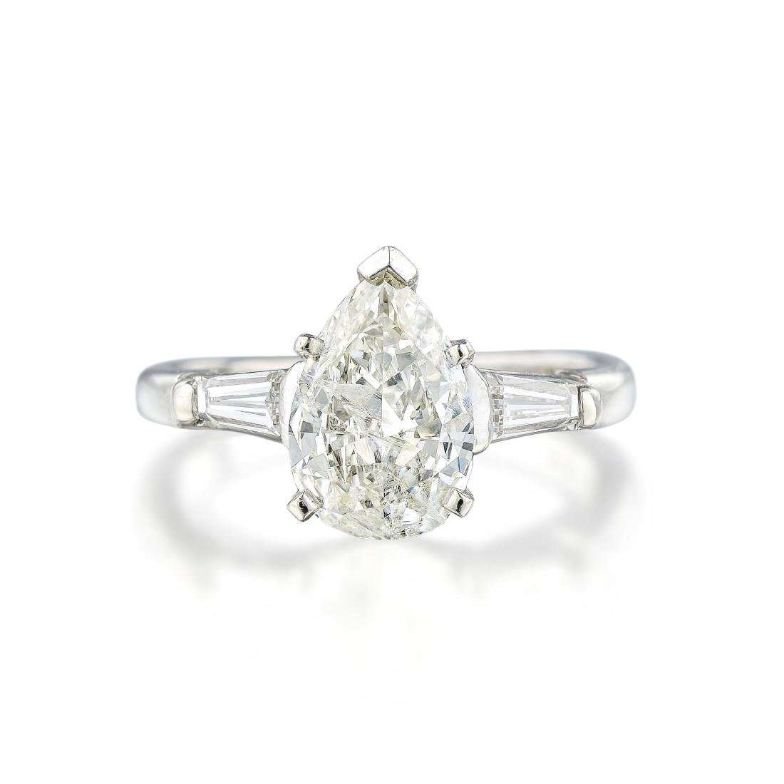 A 1.13-Carat Pear-Shaped Diamond Ring